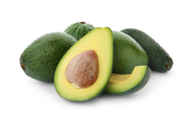 Whole, Sliced and Halved Avocados.