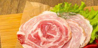 Round Slices of Pancetta.