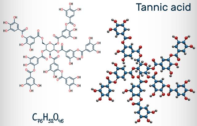 The Chemical Structure of Tannic Acid (Tannins).