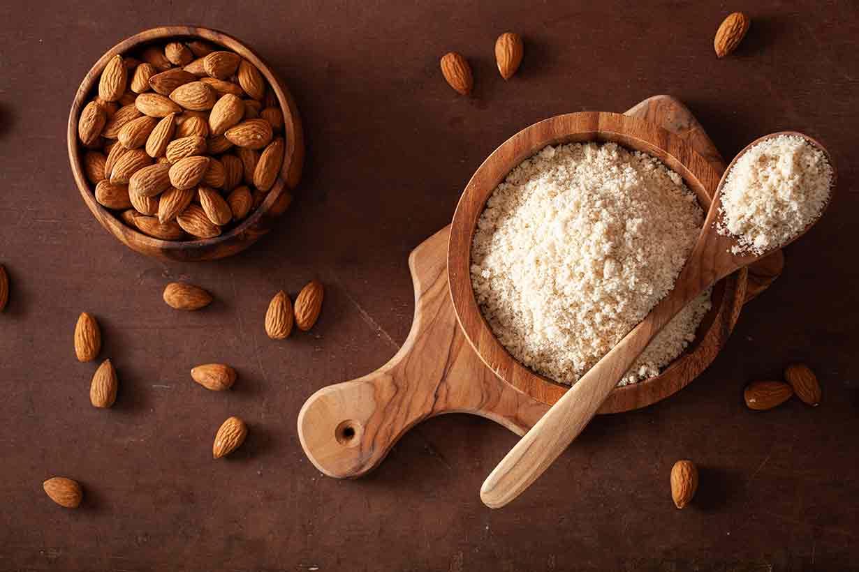 Almond Flour In a Bowl.