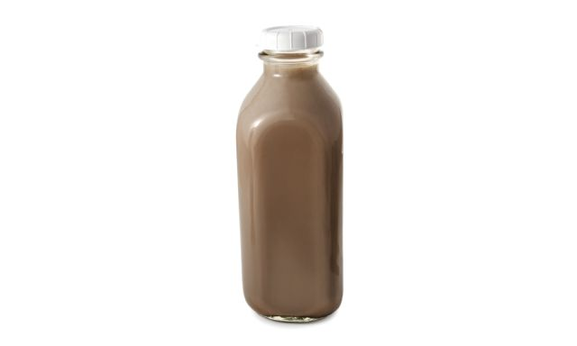 A Bottle of Chocolate Milk.