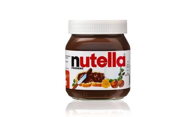 Jar of Nutella Chocolate Spread.
