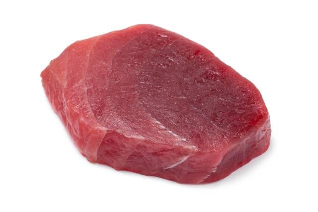 Fresh Yellowfin Tuna Steak.