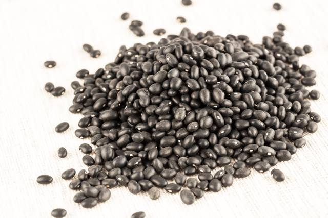 Pile of Raw Black Turtle Beans.