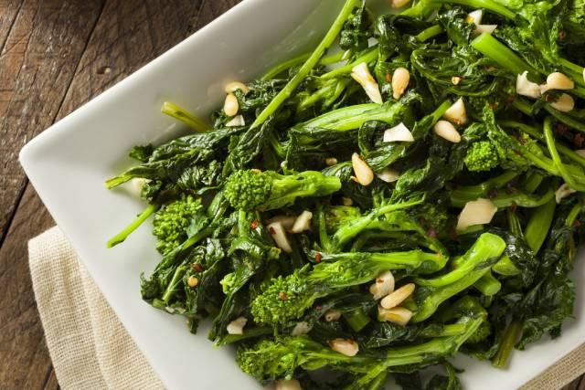 Sauteed Broccoli Raab.