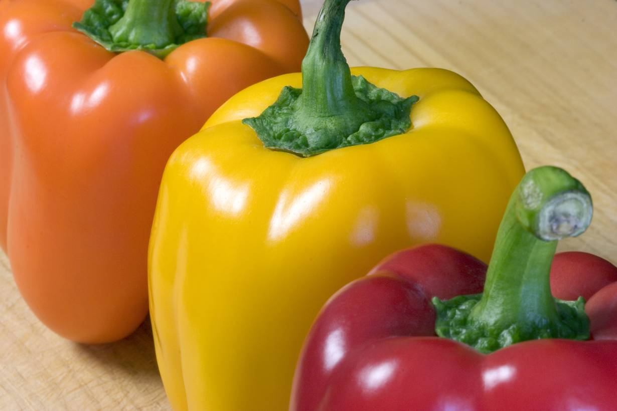 Different Color Bell Peppers.