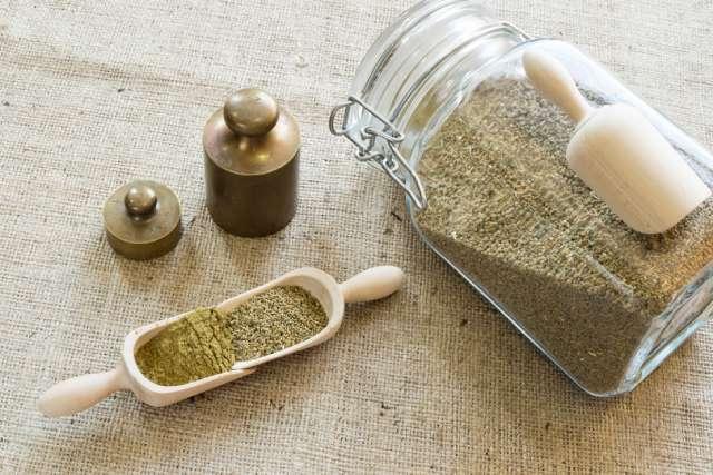 Jar of Ground Celery Seed Spice