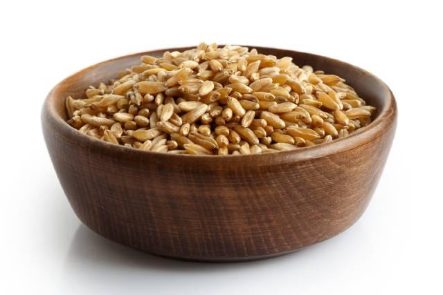 Bowl of Kamut (Khorasan) Grains.