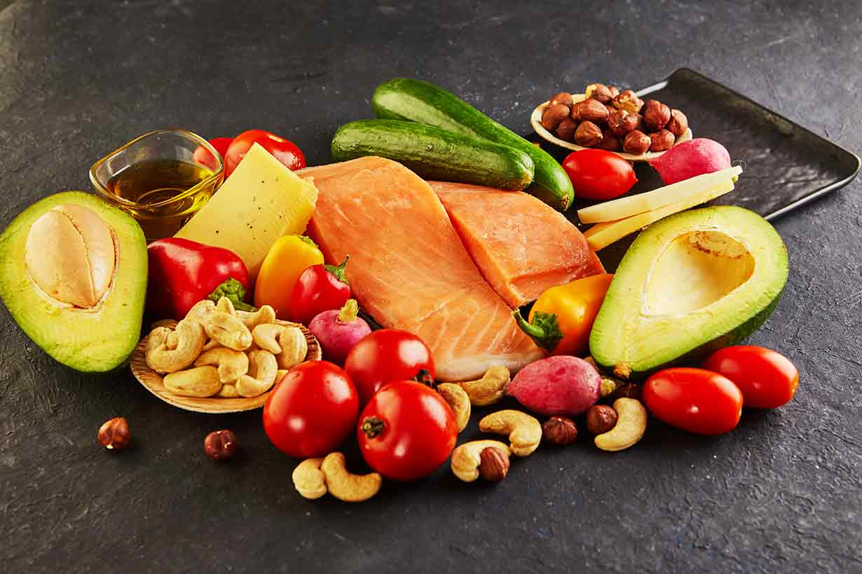 A Pile of Foods Compatible With a Ketogenic Diet.