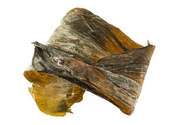 Dried Kombu Seaweed: a Type of Brown Algae (Kelp).