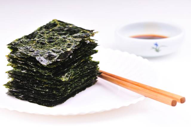 Gim/Nori: a Dried Sea Vegetable Popular In East Asia.
