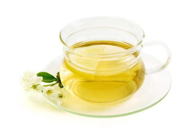 Glass of Lemon Herbal Tea.