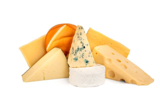 Various Different Cheeses.